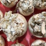 Bacon, Blue Cheese, Caramelized Onion Stuffed Mushrooms
