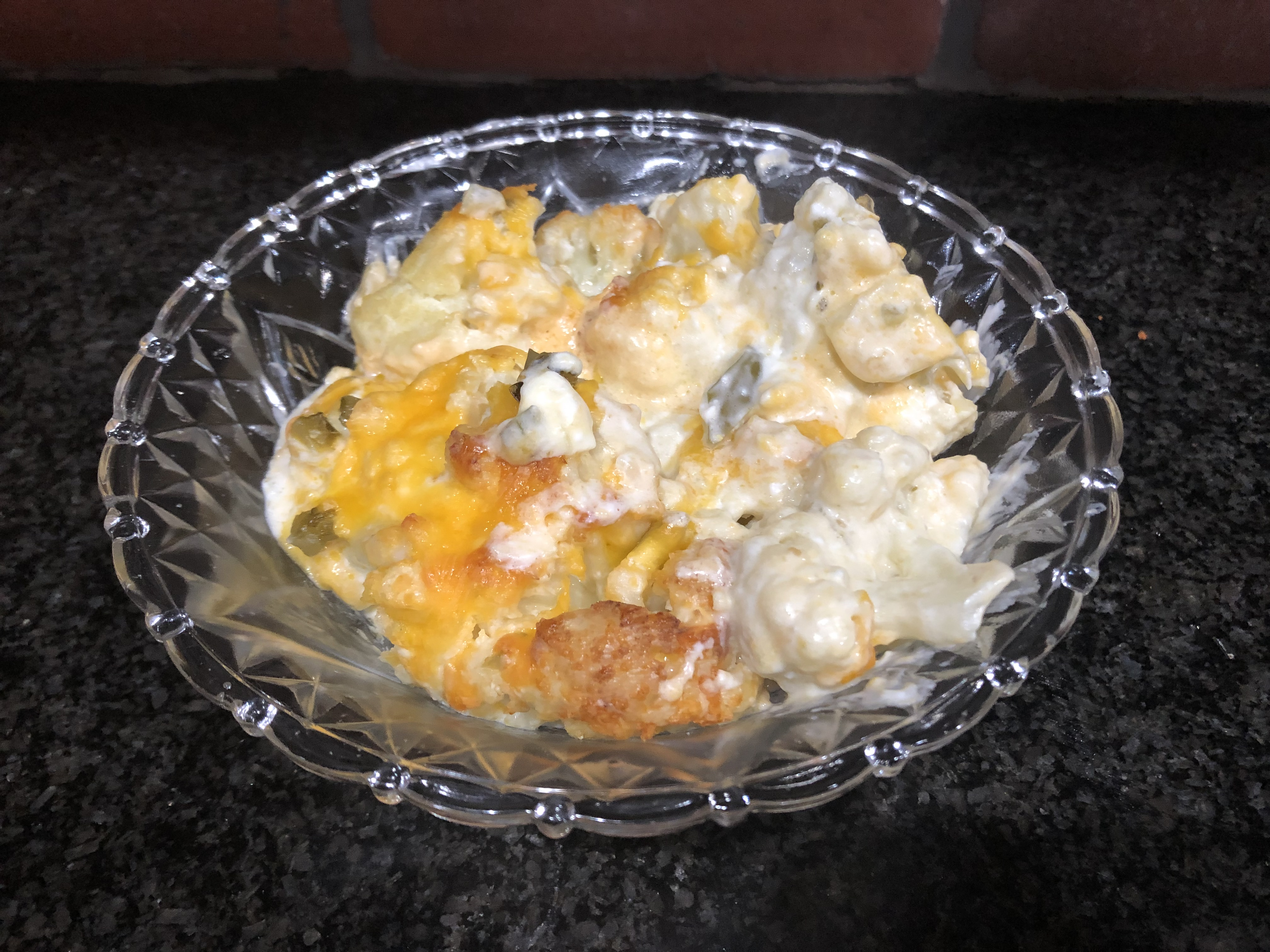 Jalapeño Popper Cauliflower Casserole