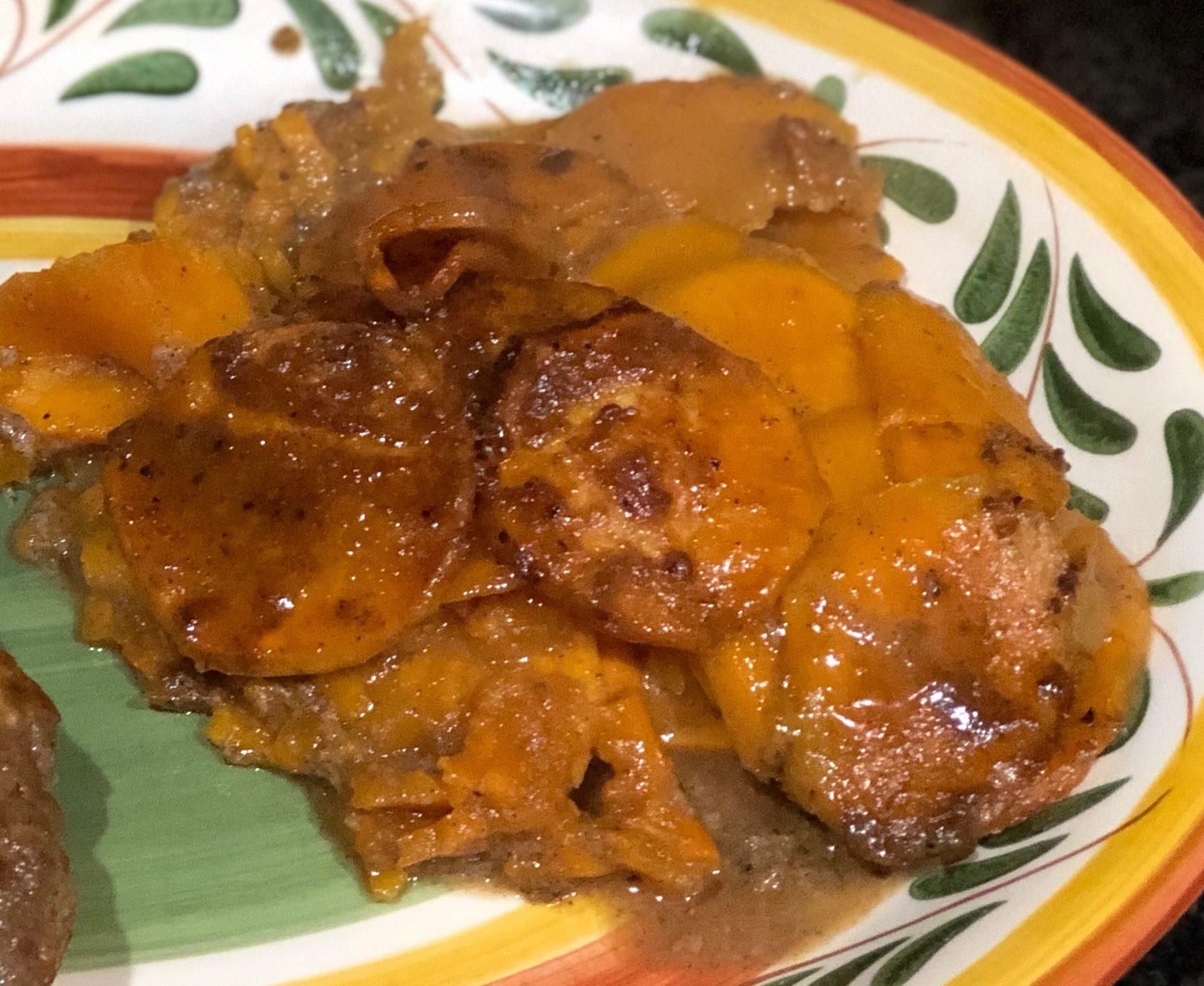 Beer and Brown Sugar Sweet Potatoes